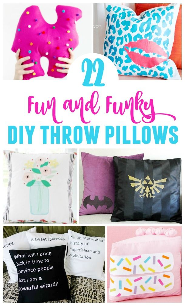 These Fun And Funky Diy Throw Pillows Can Really Change The Look