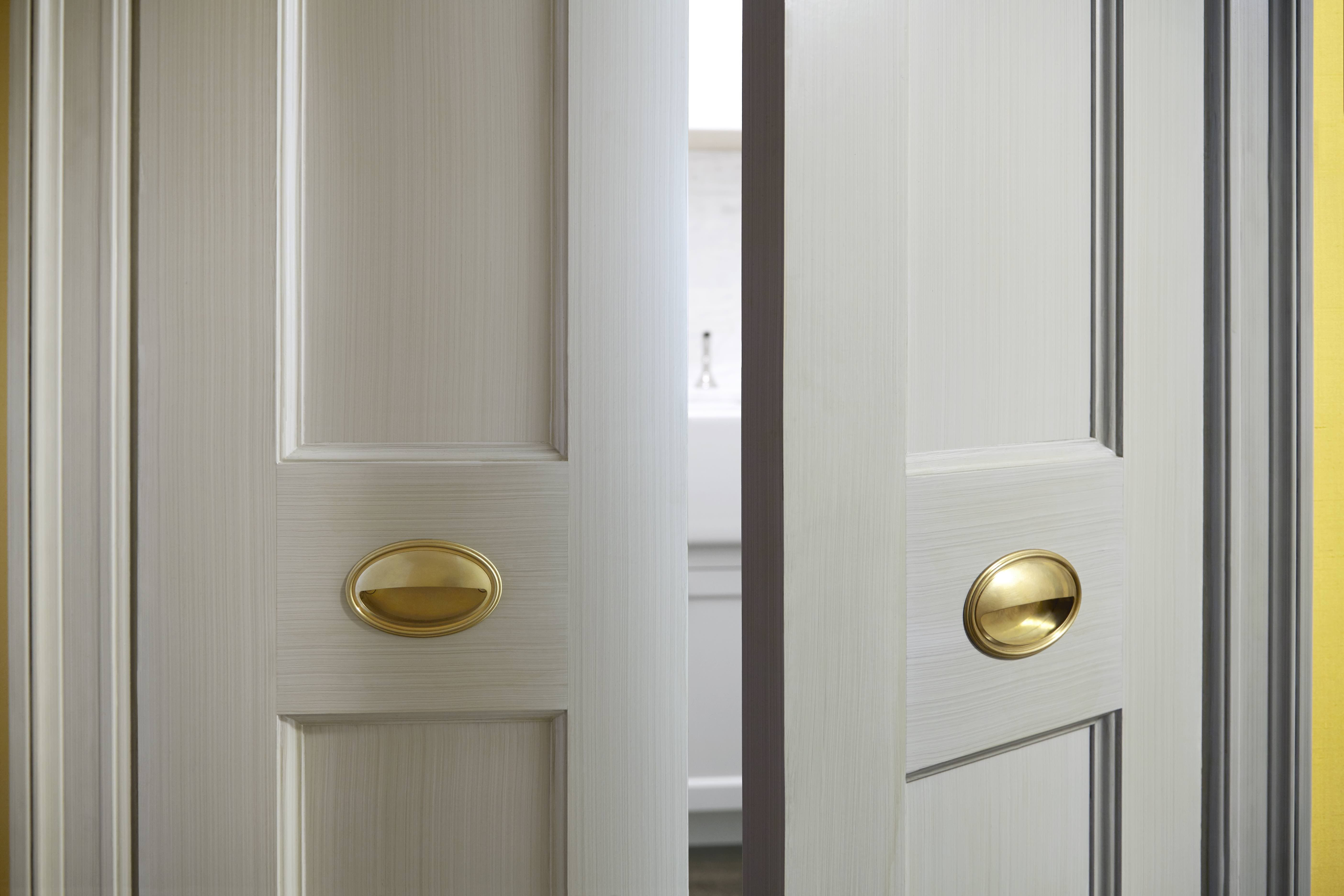Burnished Brass Recessed Clamshell Door Pulls Lowes Hardware Hardware Residences