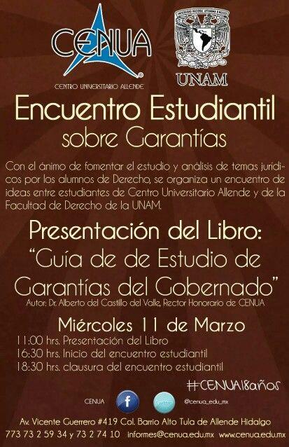 Presentación de libro y encuentro estudiantil con la Facultad de Derecho de la UNAM
