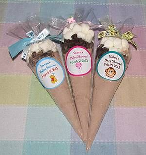 Baby Shower Favors Hot Chocolate baby shower favors -hot chocolate diy favors -we can design the