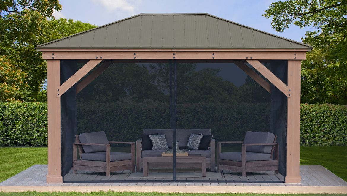 Yardistry Structures In 2020 Gazebo Pergola Aluminum Roof