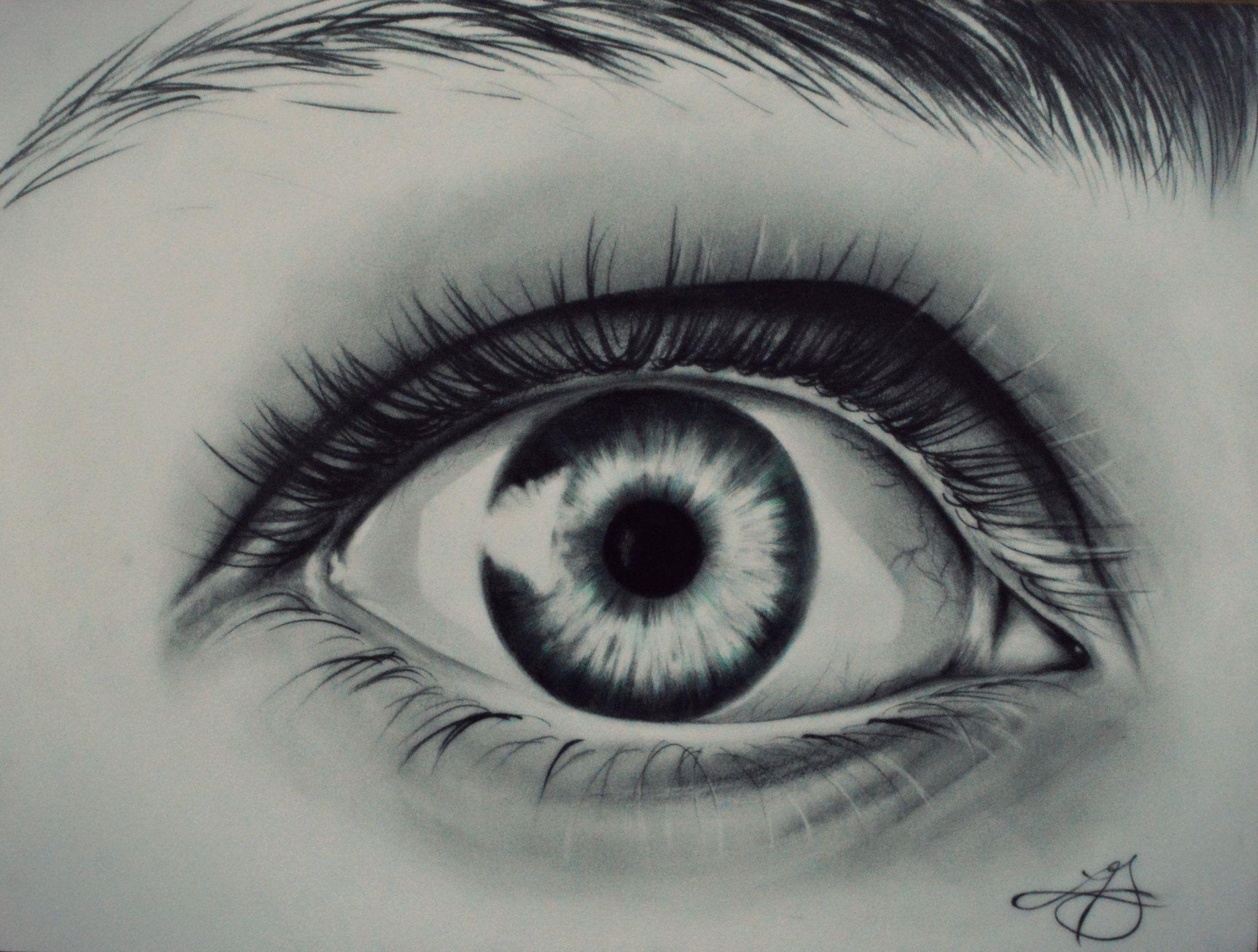#drawing #eye #eyelashes #eyebrows #green #pencil #drawing ...