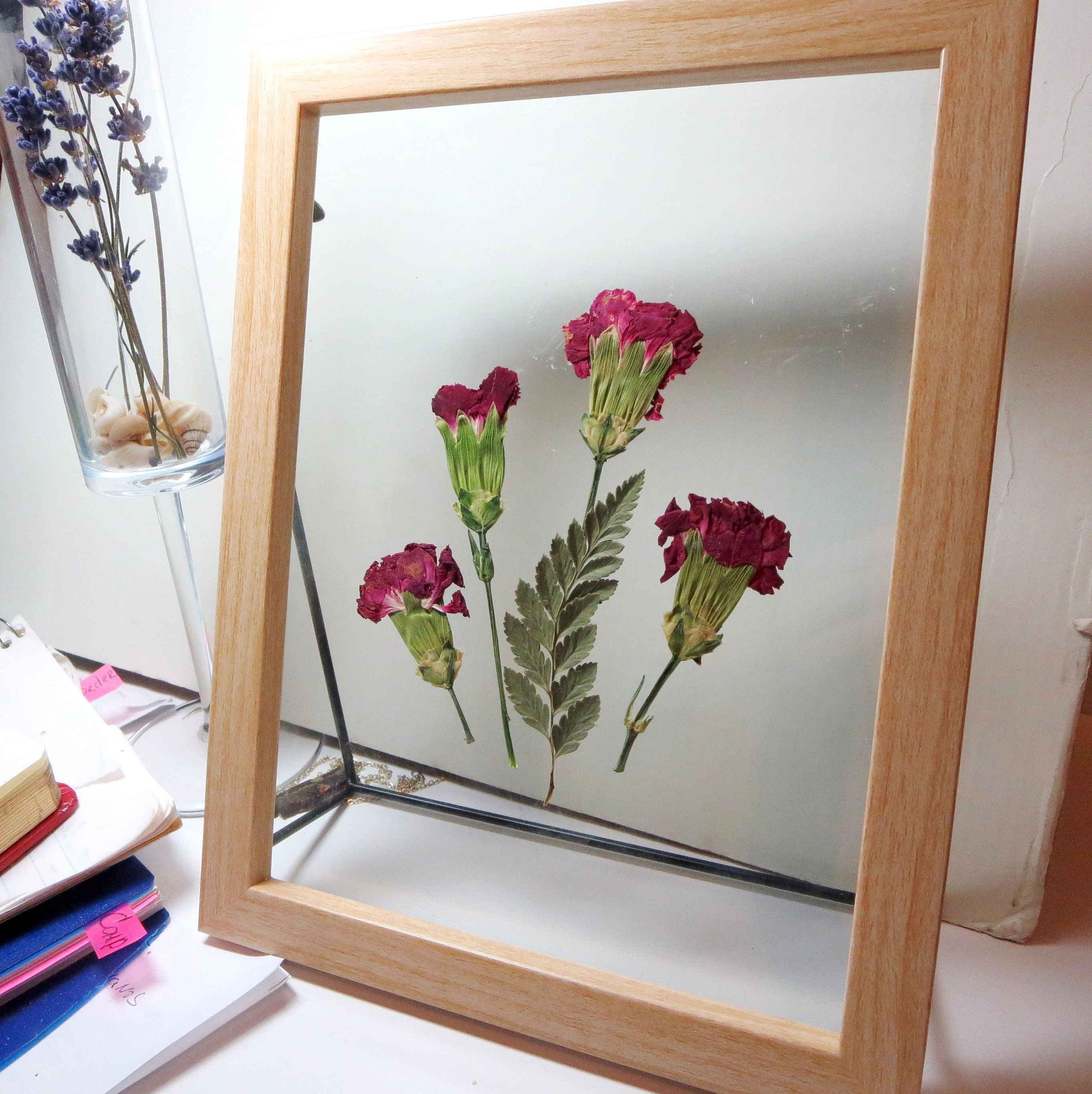 Pin By Leather Rosesandgifts On Awesome Gifts Framed Flower Art Flower Art Pressed Flower Art