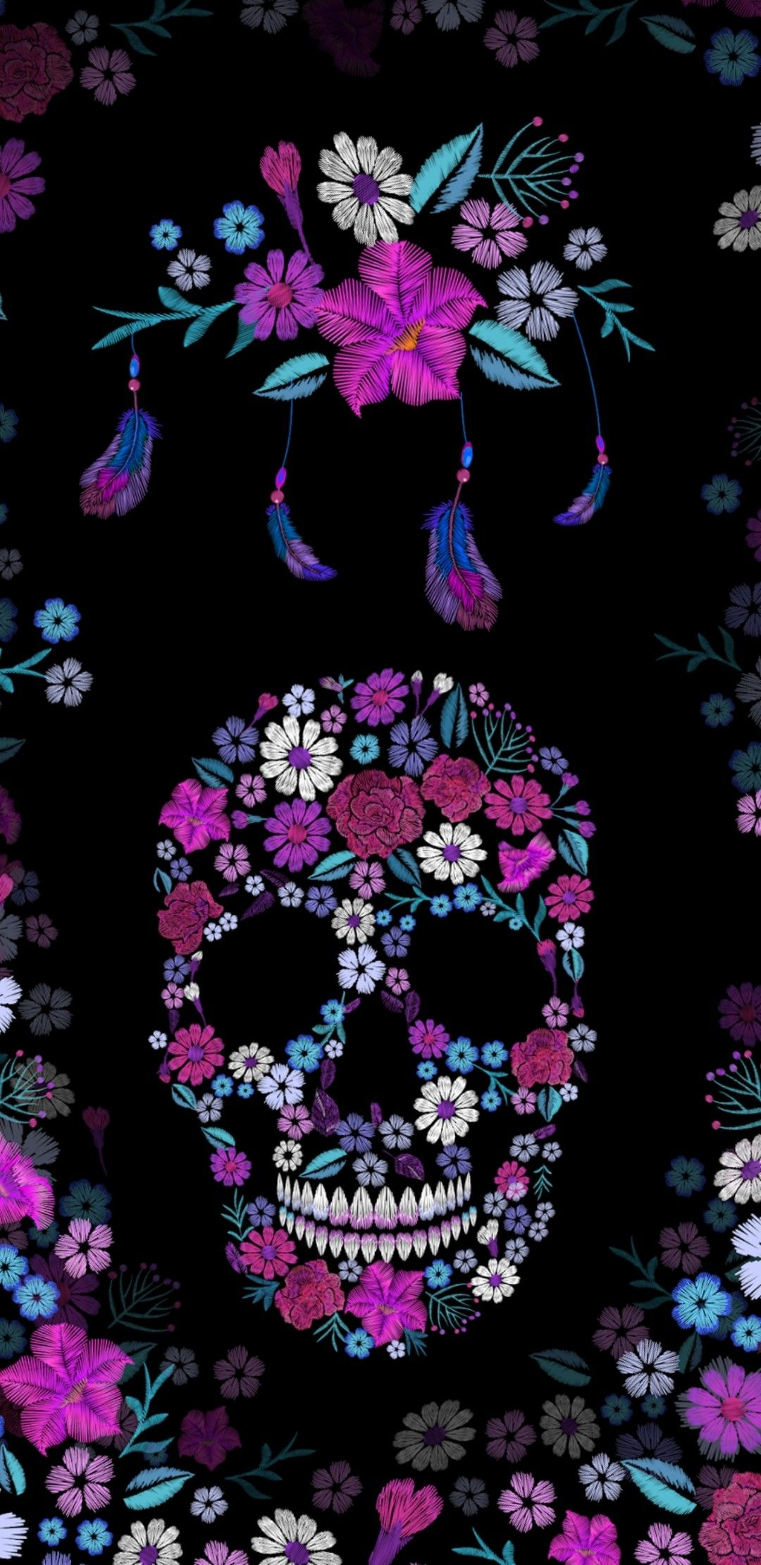 Pin Dany On Wallpapers Iphone Skull Pictures Jpg 1080x2220 Sugar Emo Sticker Girly