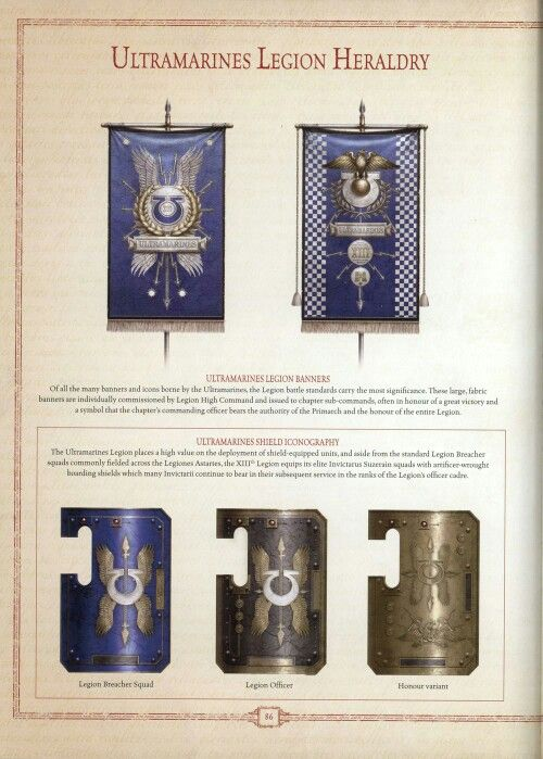 Ultramarine legion heraldry