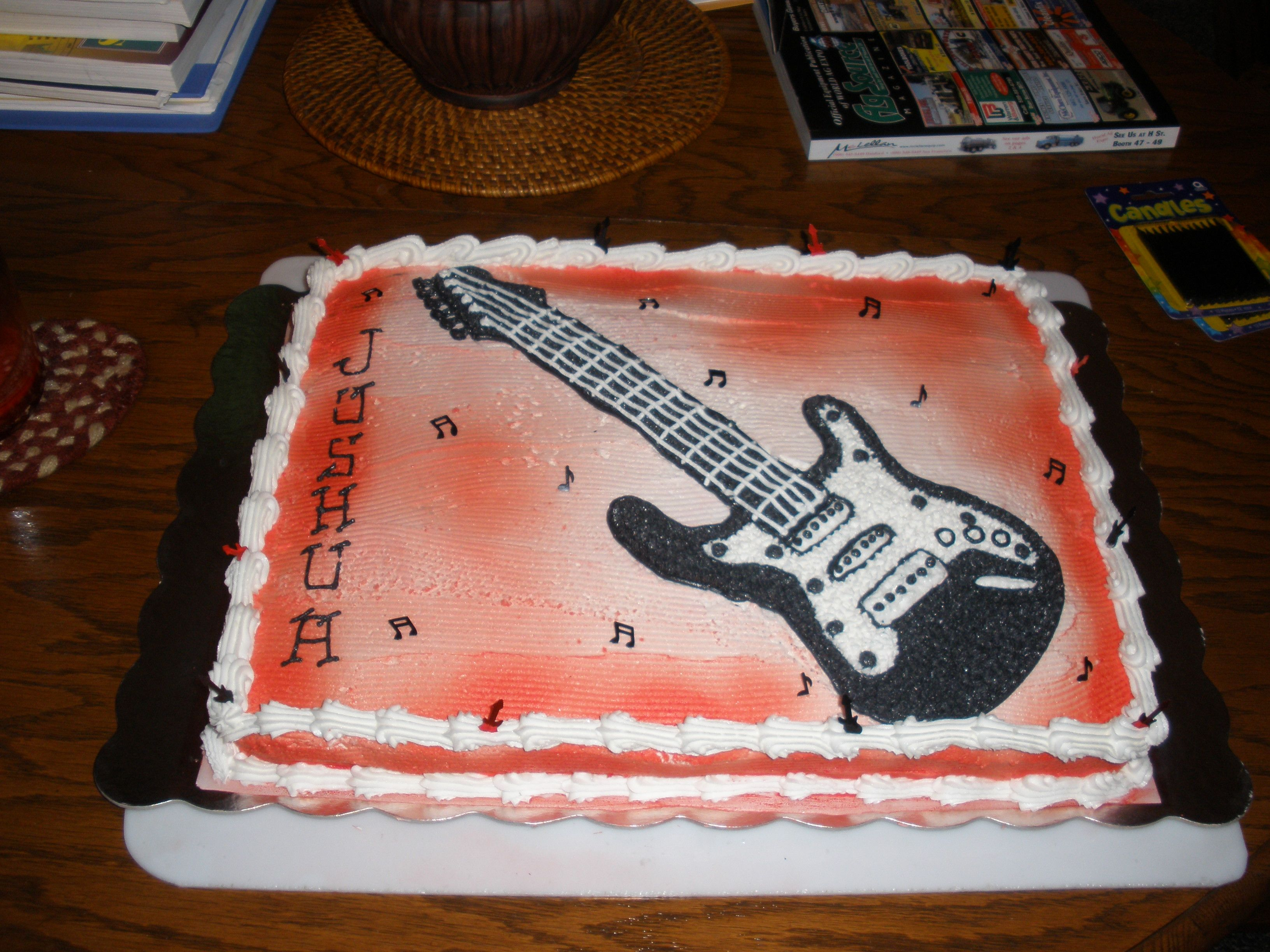 Guitar Birthday Cake Jana s Birthday Cakes Pinterest ...
