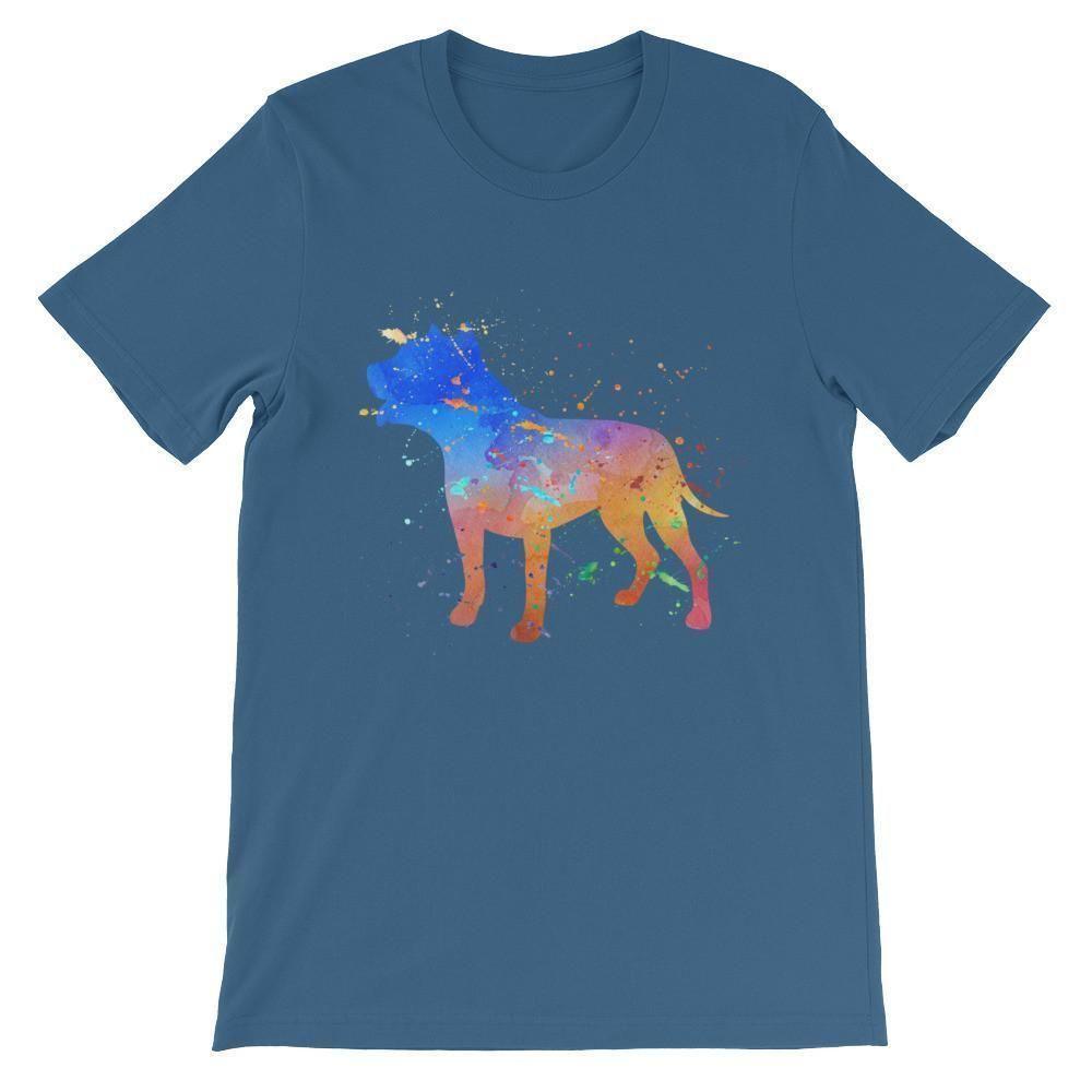 Pit Bull Watercolor Splatter - Unisex short sleeve t-shirt