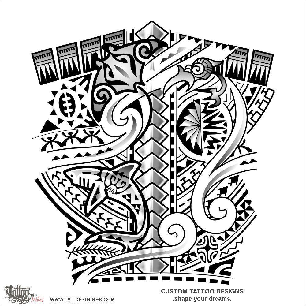 Maori Band Tattoo Design: Ururoa. White Shark. This Tattoo Prepared For Bryan Mixes