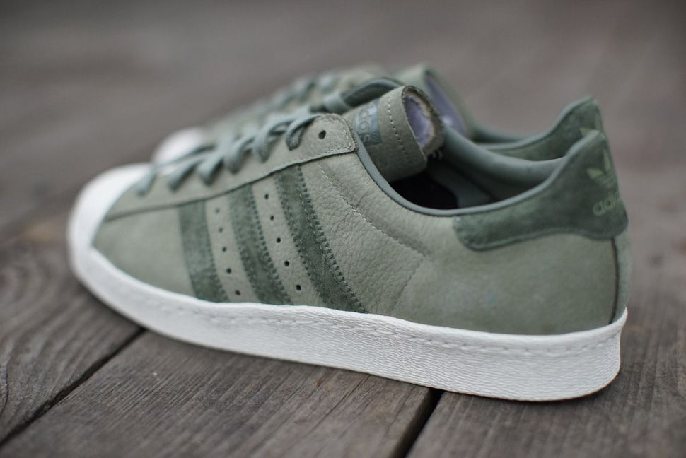green adidas superstars