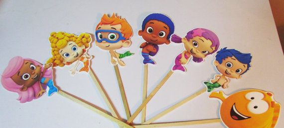 Set of 7 Bubble Guppies  DIY Centerpiece by KhloesKustomKreation, $18.00