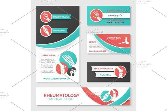 Medical Clinic Banner Card Flyer Template Design  Flyer