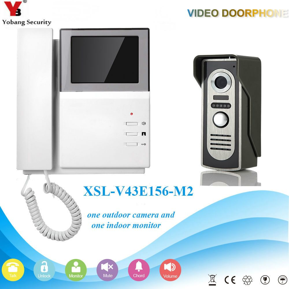 Yobangsecurity Video Intercom Monitor 43inch Color Video Door