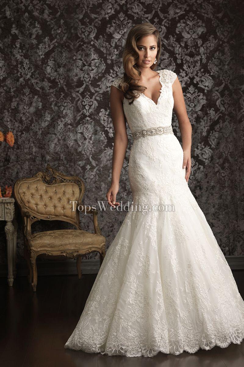 9bc0aa53ff44 Praia Verão Sem Mangas Cauda Longa Renda Branco Bordado Vestidos de noiva  sereia