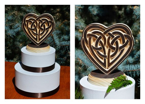 celtic wedding cake topper celtic knot wood carved wedding cake topper your 2526