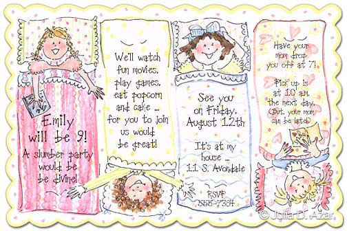 SLUMBER PARTY INVITATIONS party time Pinterest Slumber party
