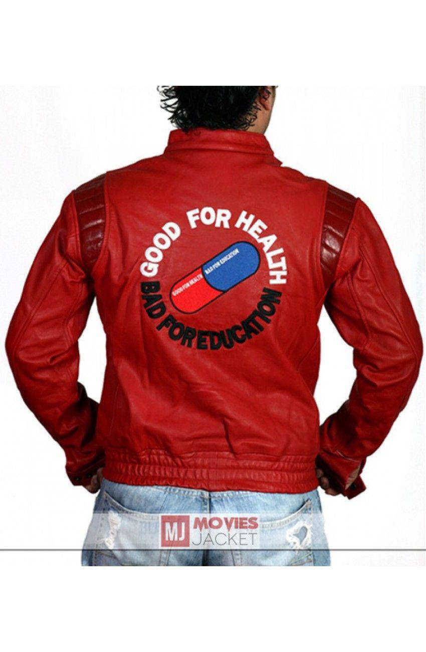 Kaneda Akira Jacket Good For Health Bad For Education Jacket Jackets Jacket Drawing Jacket Tops [ 1300 x 850 Pixel ]