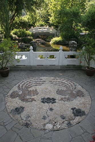 Chinese Garden bridge Missouri botanical garden, Chinese garden - chinesischer garten brucke