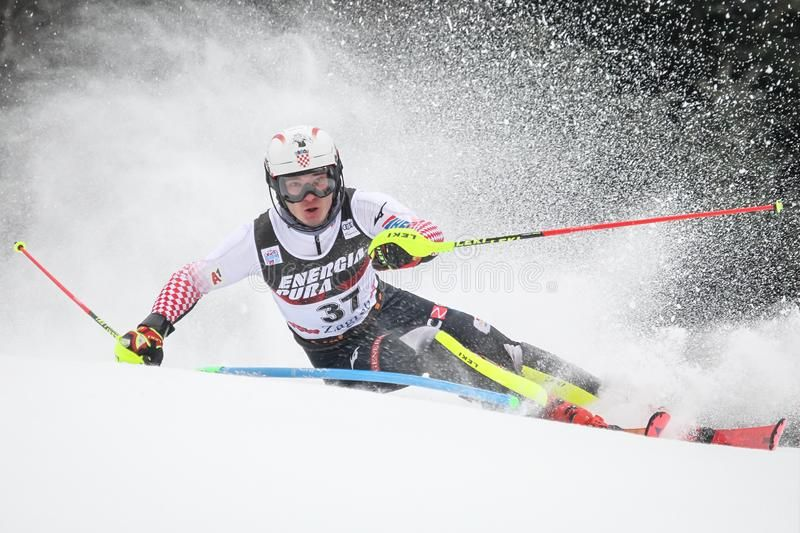 Snow Queen Trophy 2019 Mens Slalom Zagreb Croatia January 6 2019 Istok Ro Sponsored Sponsored Sponsored Trophy Q In 2020 Snow Queen Alpine Skiing Snow