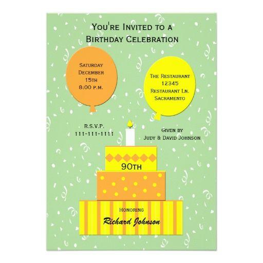 90 Birthday Invitations