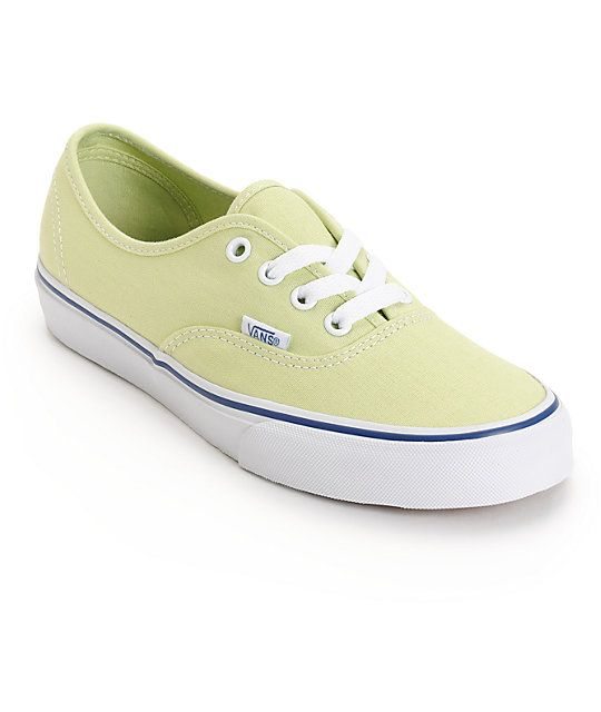 053293b9329 Add a touch of color to any outfit with the lime colored textile upper that  is finished with white metal eyelets and laces as well as Vans logo  detailing ...