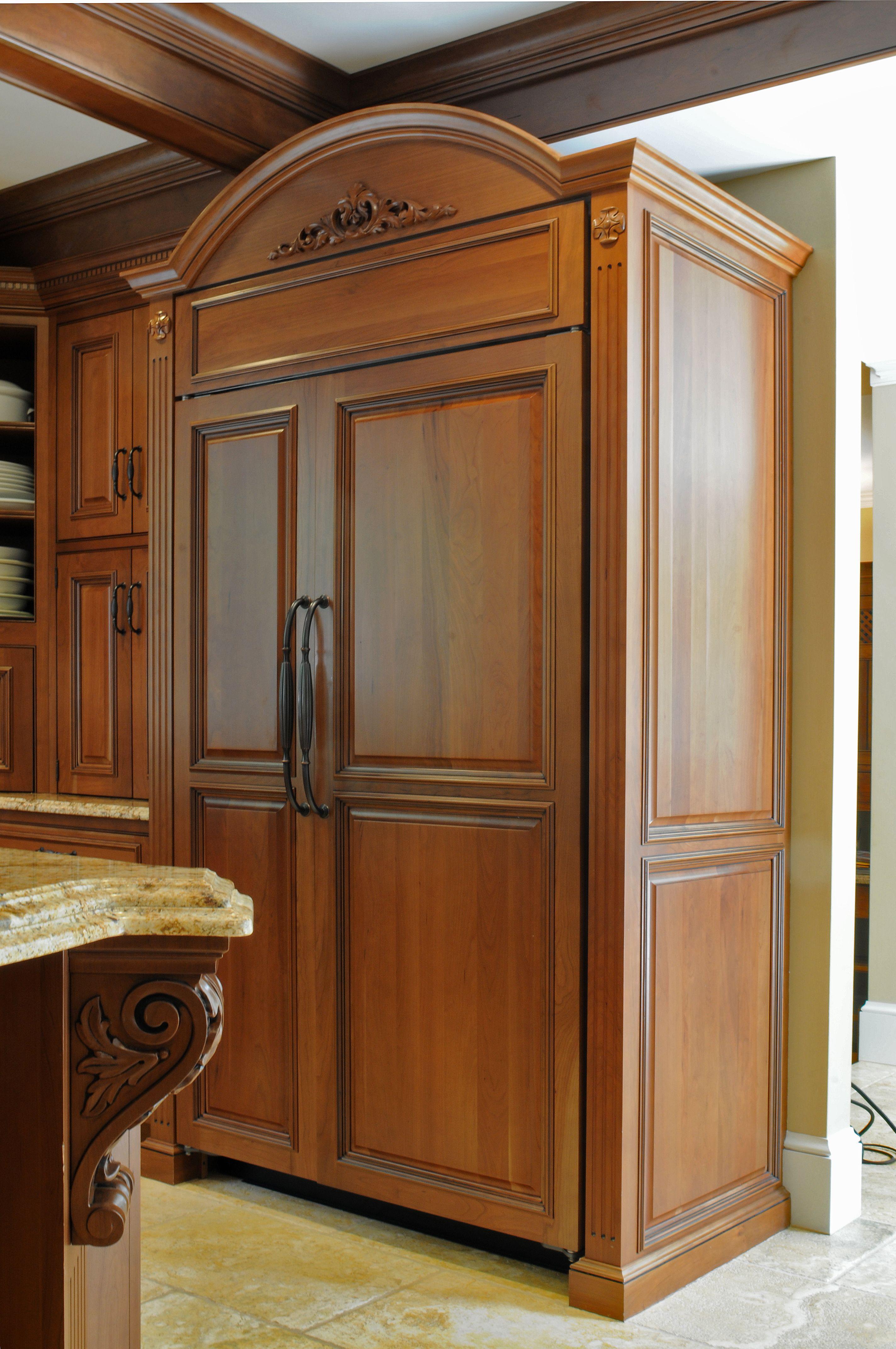 Kitchen Appliance Panels Kitchen Armoire Fridge Design Custom Refrigerator