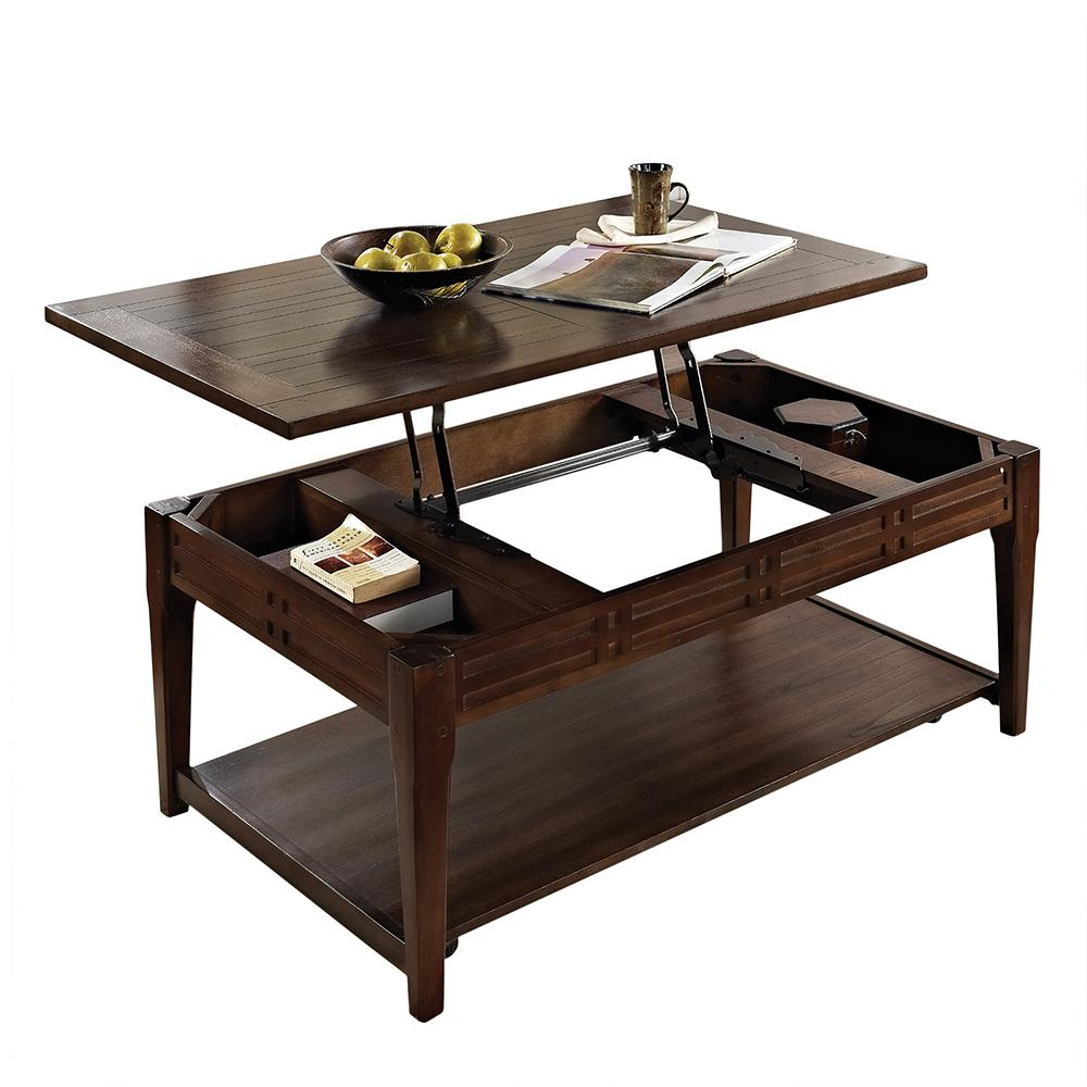 Steve Silver Crestline Cherry Lift Top Cocktail Table Mocha