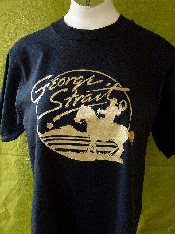 VIntage tee George Strait - concert tee 1988 - black vintage tee - size  medium 1dffd686a