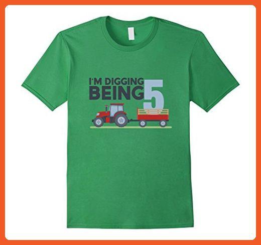 Outlet C92c5 Eea21 Mens 5th Birthday Tshirt Age 5 Year Old Tractor Boy Girl Shirt 3XL