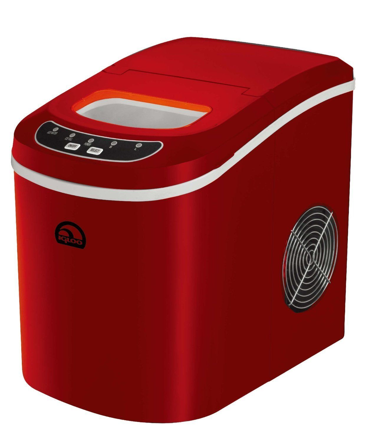 Igloo Ice102 Red Compact Ice Maker Red Certified Refurbished