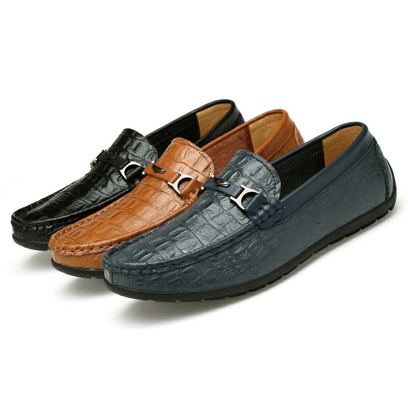 Mens Casual Loafer Shoes (11 US) (Brown)