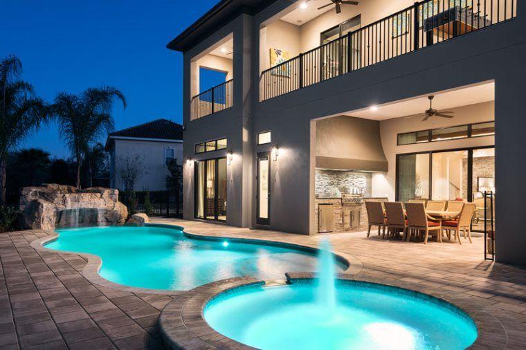 Excellent 9 Bedroom Luxury Vacation Rental In Orlando Reunion Resort Home Interior And Landscaping Palasignezvosmurscom