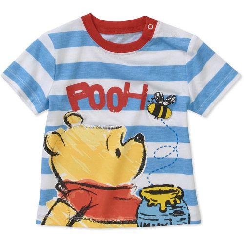 69c008c66a73 Disney Newborn Boys  Winnie the Pooh Short Sleeve Graphic Tee  Baby ...