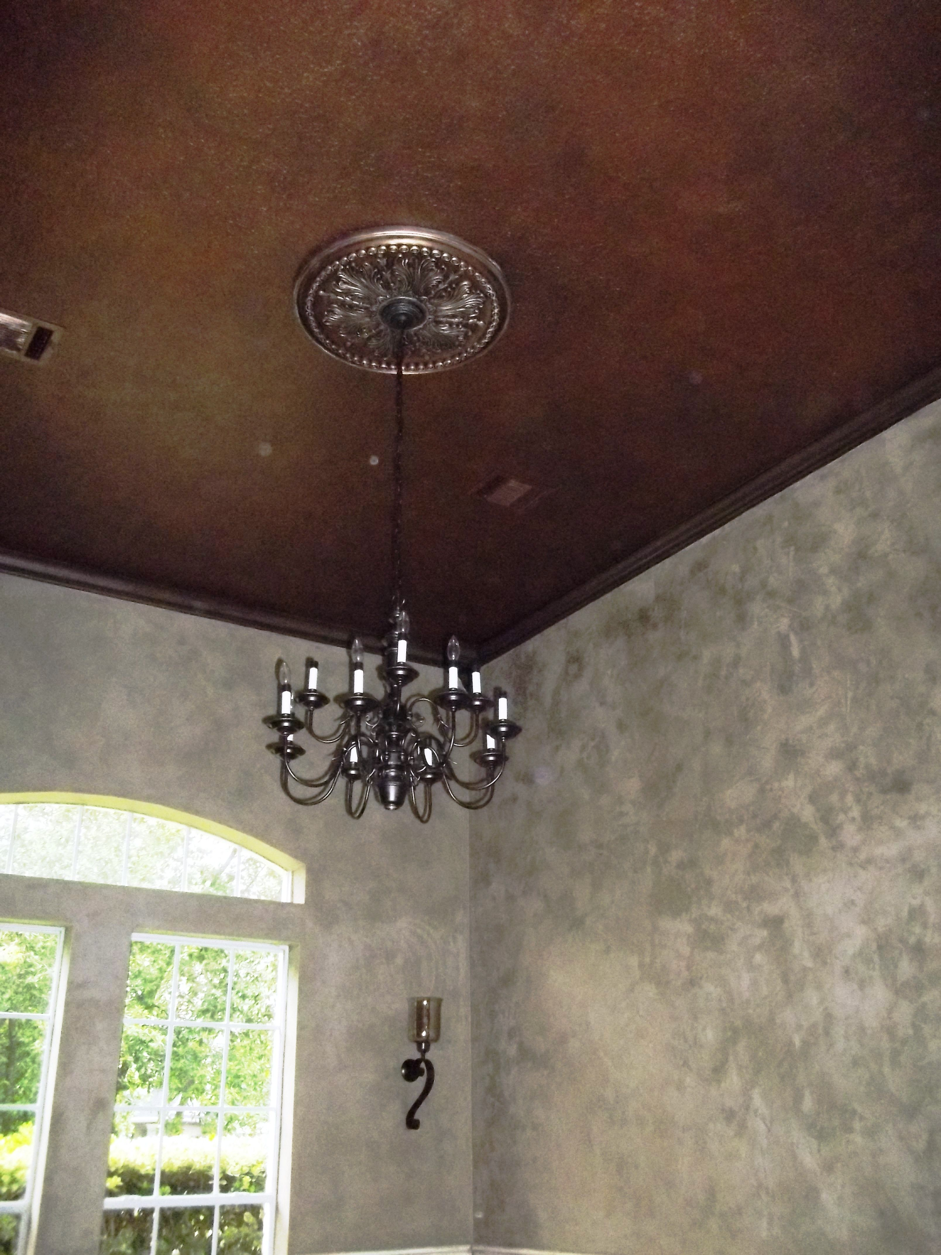 Bronze ceiling & Charred Gold LusterStone walls Medallion
