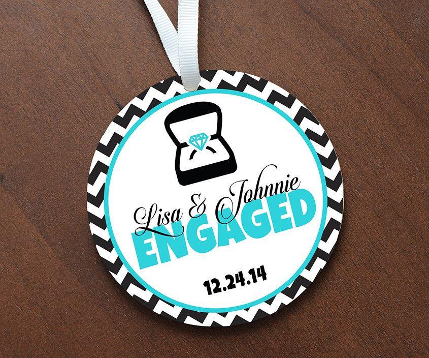Personalized Engagement Ornament Keepsake - Custom Made to ...