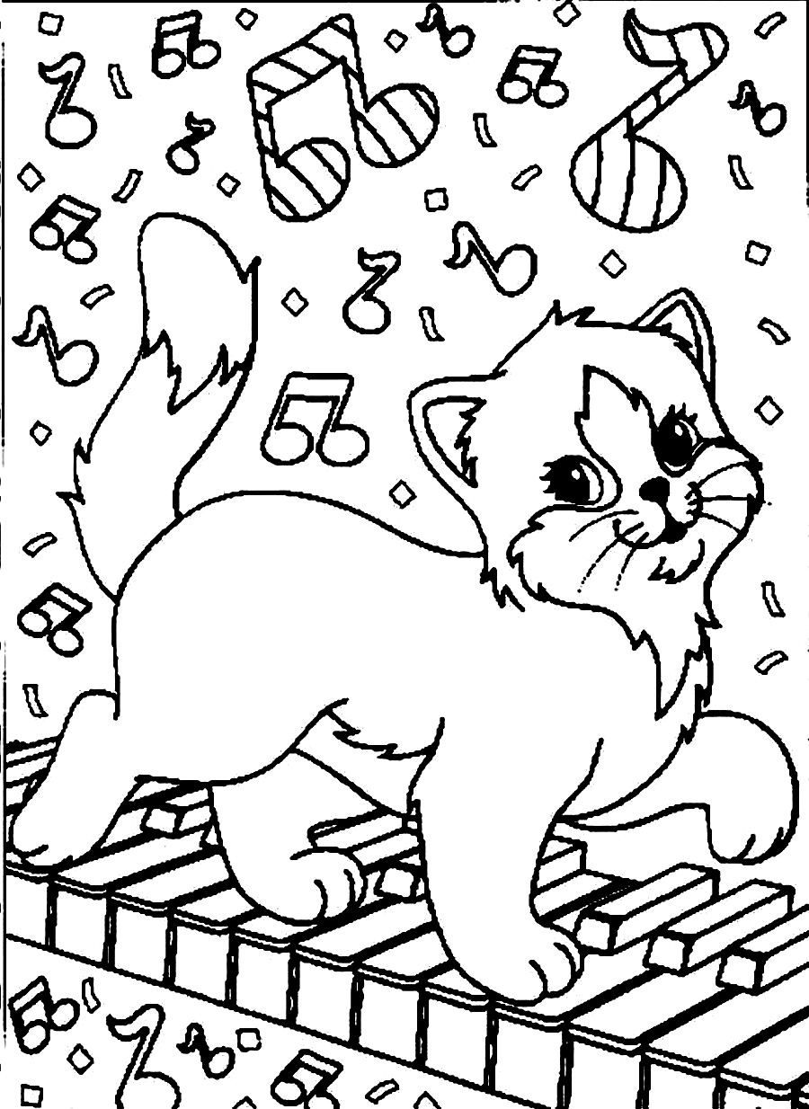 lisa frank coloring pages cats - photo#3
