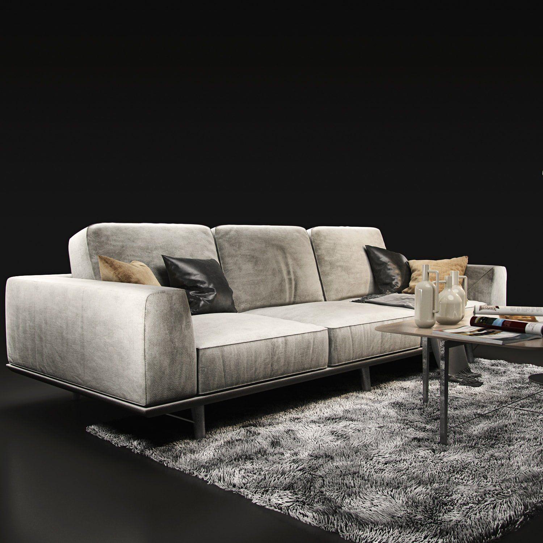 Sofa natuzzi Gio 2912 #OBJ#Length#FBX#archive | Abstract 3d