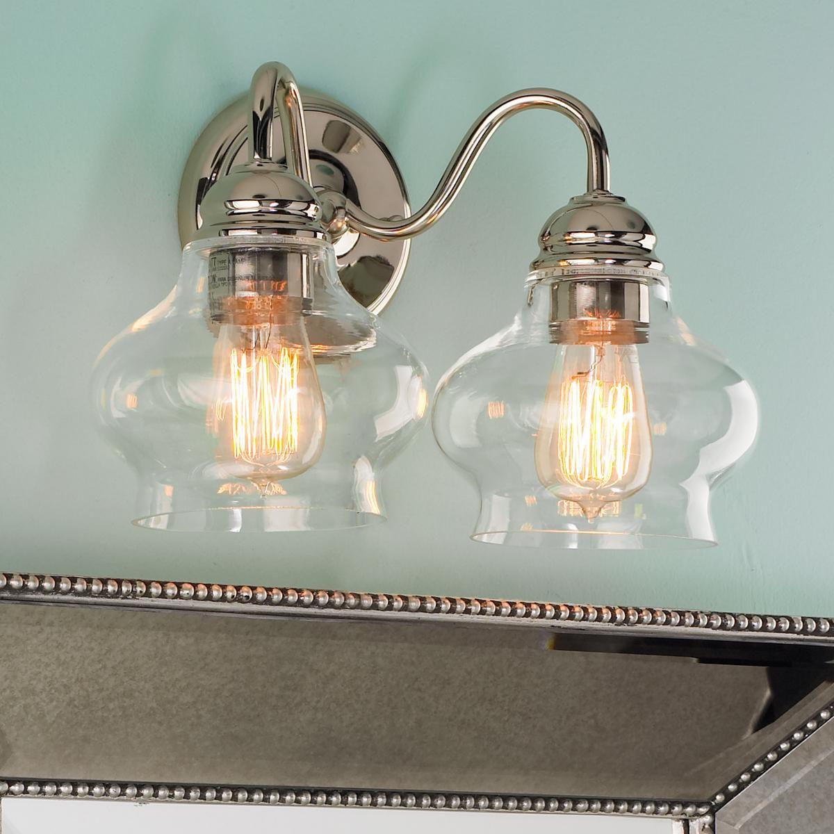Clear Cloche Glass Bath Light- 2 Light | Pinterest | Bath light ...