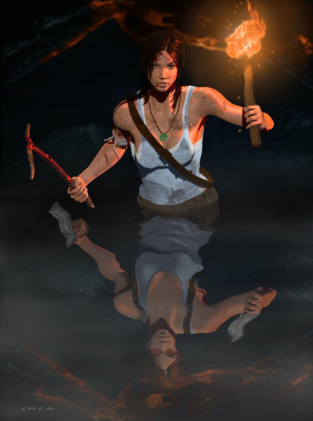 Lara Croft / Tomb Raider Reborn in Color by InkWorthy on