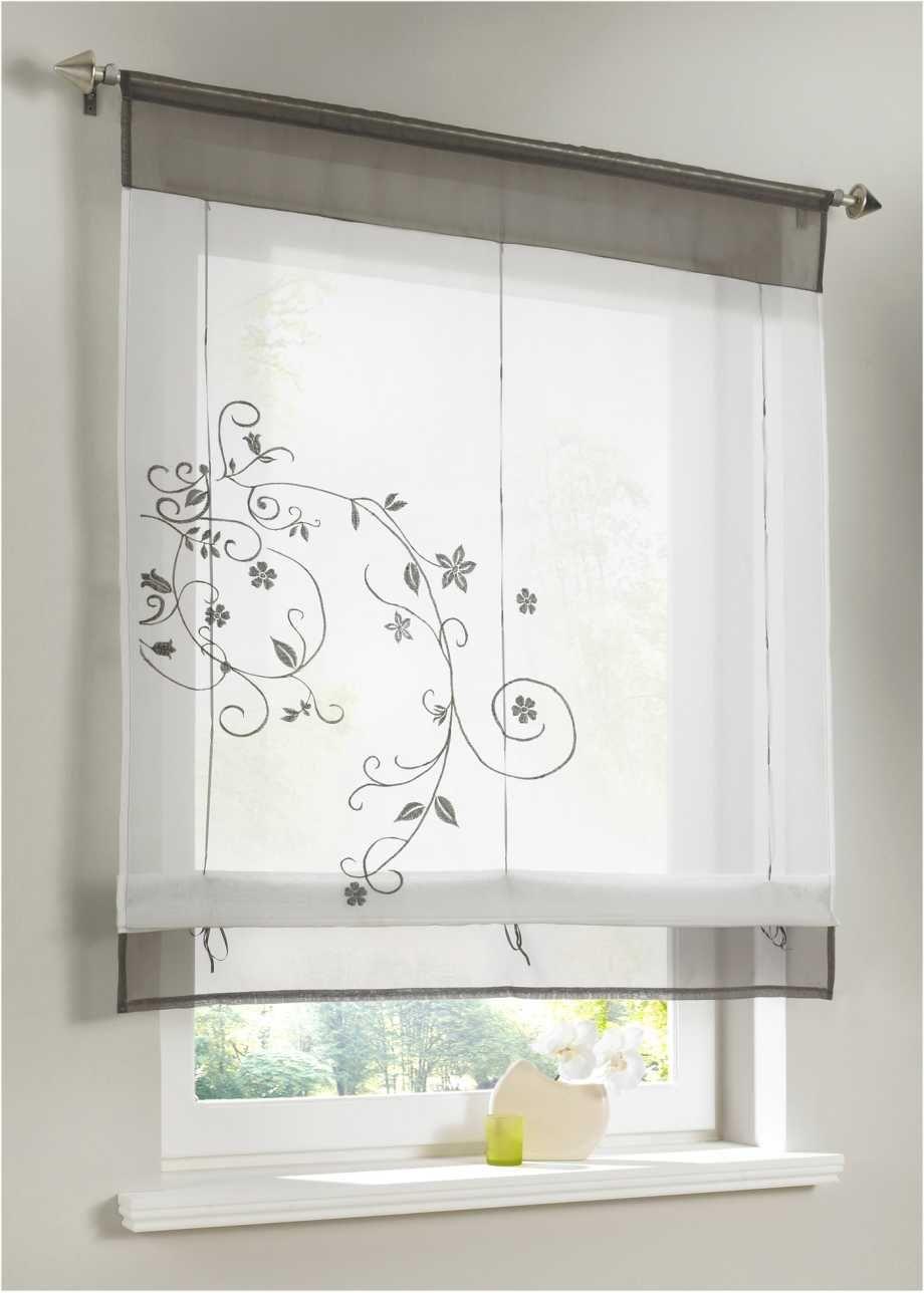 Transparente Fensterdekoration Mit Verspielter Stickerei Grau Tunnelzug Badezimmer Fensterdeko Fenster Dekor Bandchenrollo