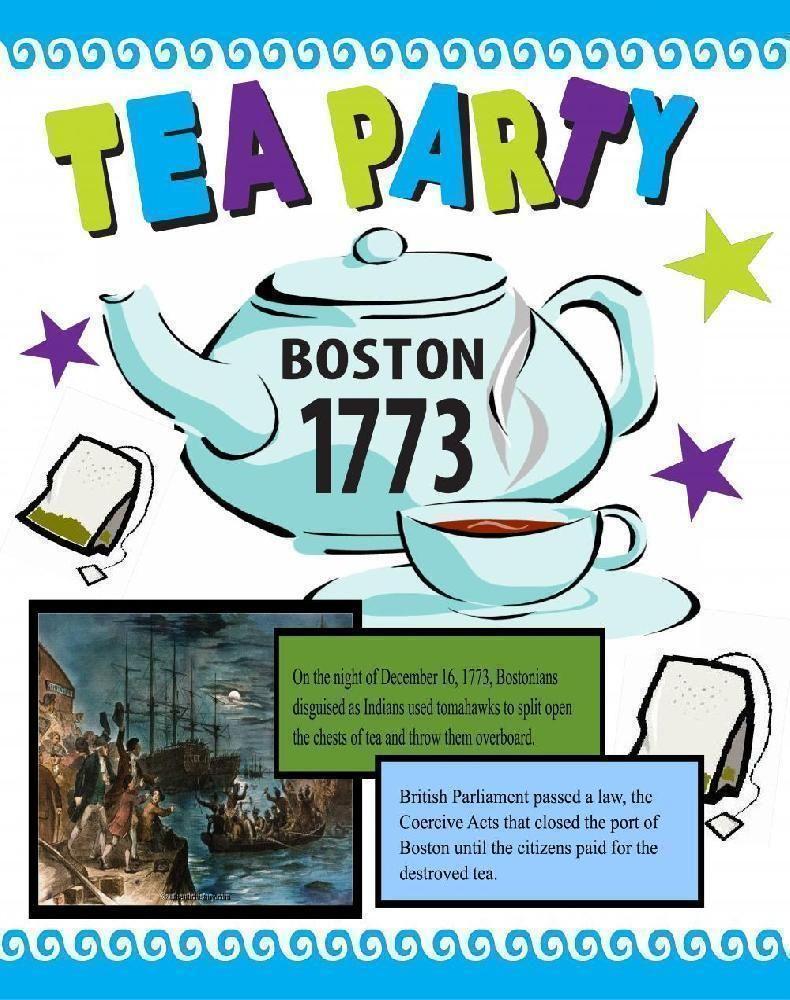 Make a Poster About the Boston Tea Party   Unites States History Poster  Ideas   Boston tea [ 1000 x 790 Pixel ]