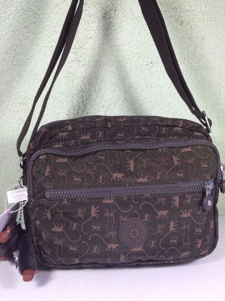 1373fd931789 Find this Pin and more on Handbags by Gwendi Davis. New  89 Kipling Deena  Monkey Mania Brown ll Crossbody Satchel Bag