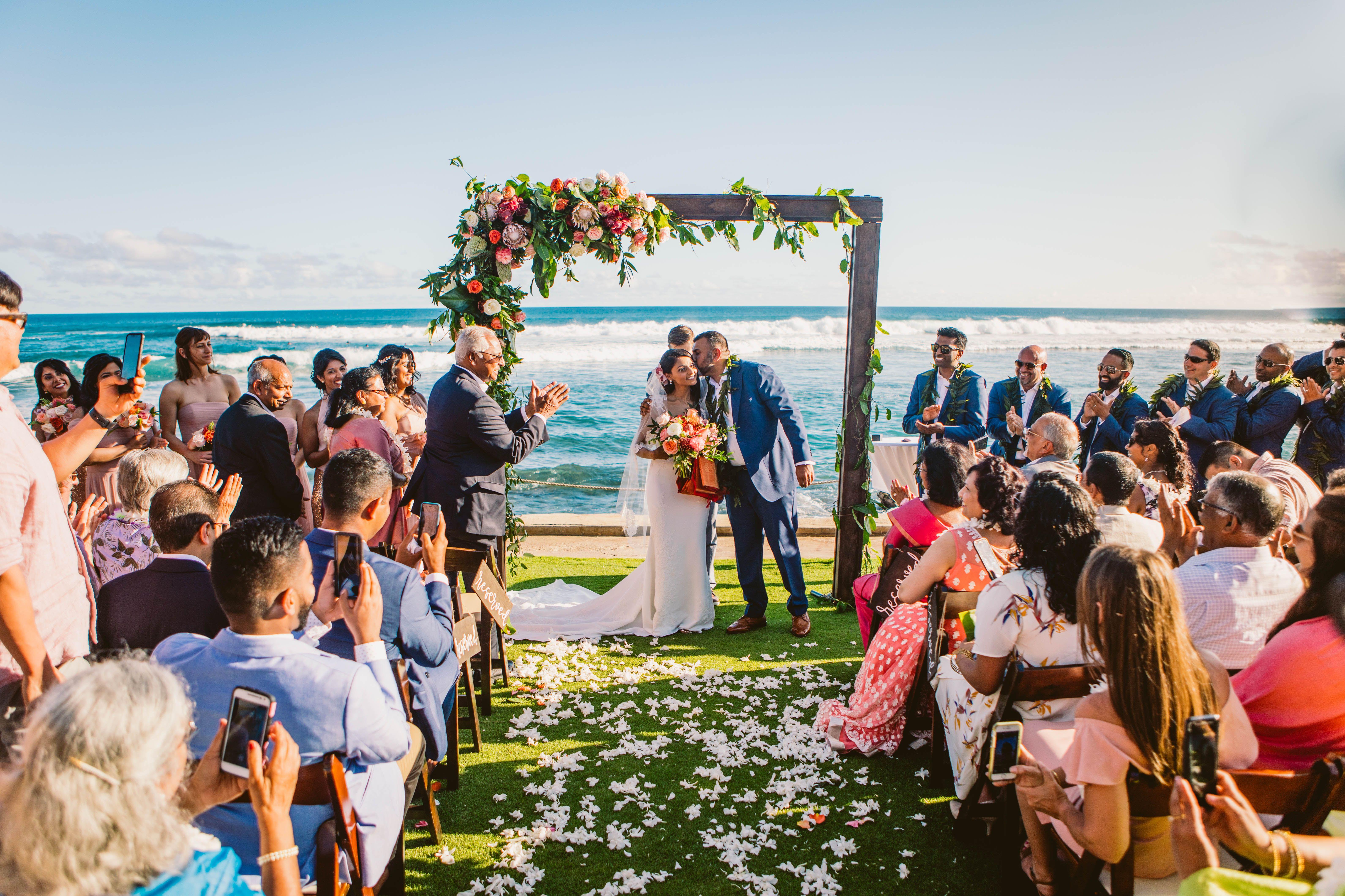 Tropical Wedding Arch 2 Post Ceremony Arch Beach Wedding