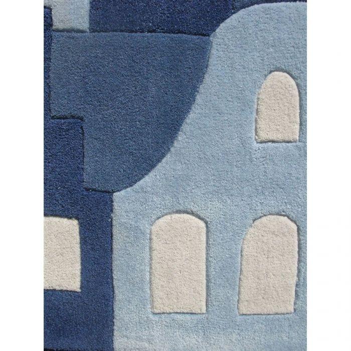 tapis bleu Tapis pour chambre d\u0027enfant Amsterdam Artforkids Déco