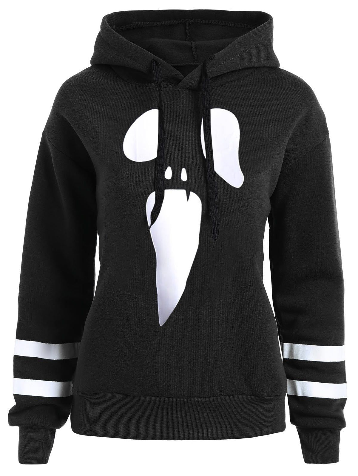 Fashion Halloween Plus Size Pullover Drop Shoulder Graphic Hoodie