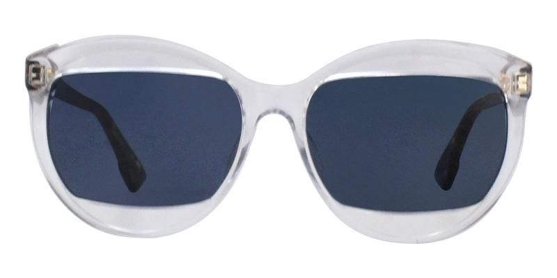 2d4dffffd3a Dior Mania 2 Clear   Blue Lens Sunglasses – shadesdaddy