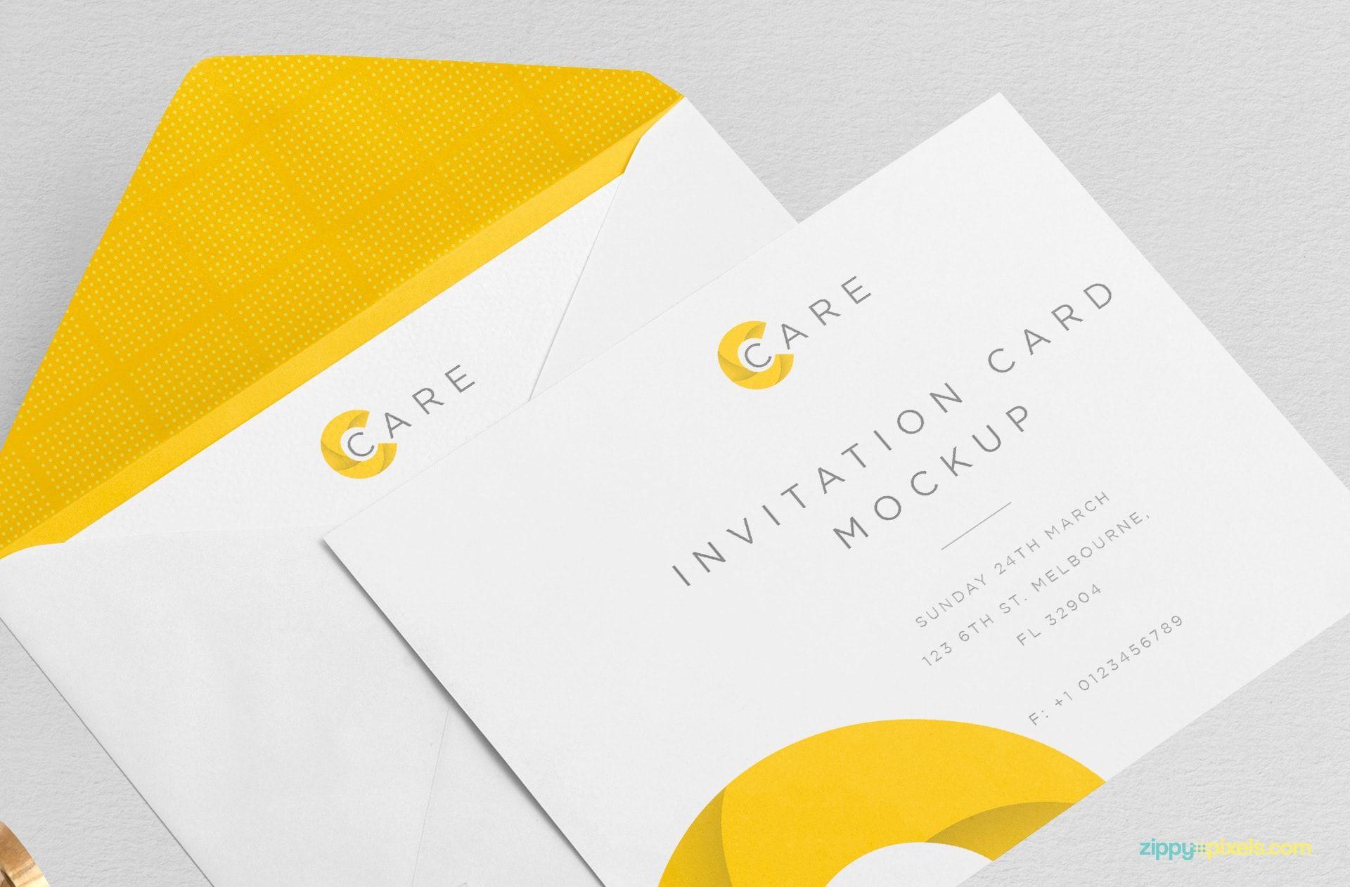 Free Classy Invitation Mockup Free Design Elements