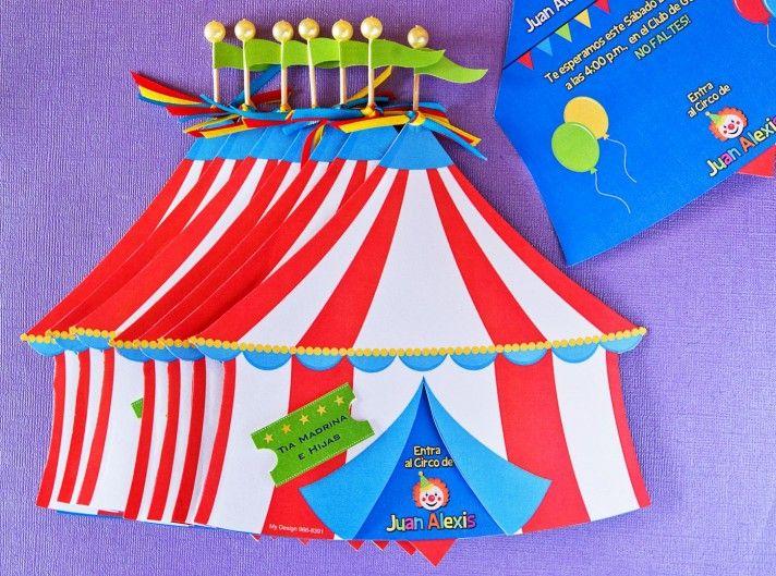 Invitaciones Tipo Circo Cumpleanos De Juan Alexis Invitaciones