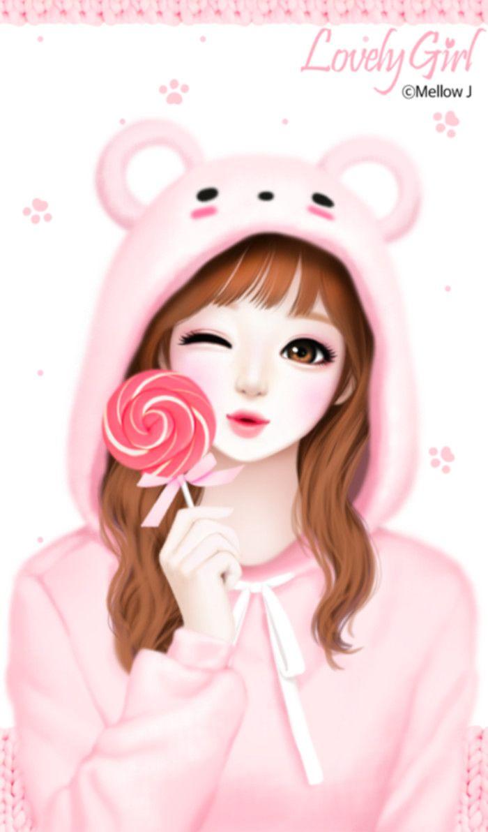Korean Cute Beautiful Girl Cartoon Wallpaper Novocom Top