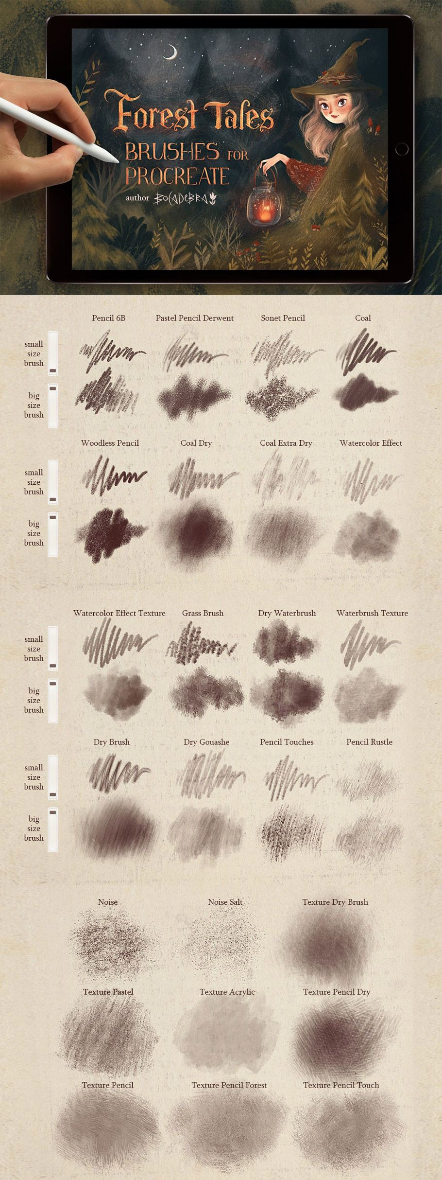 Photo of Texture Brushes for Procreate