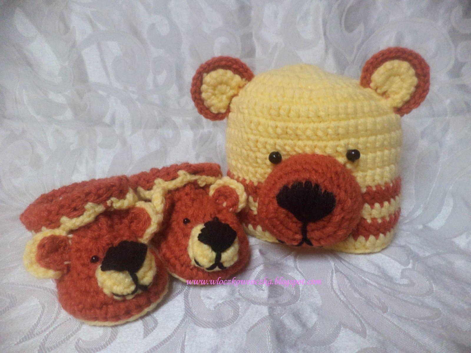 Misiowy Komplet Crochet Hats Crochet Fashion